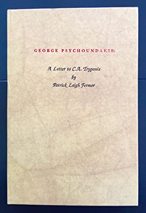 George Psychoundakis : A Letter To C.A.Trypanis (Signed By The Author And With The Publisher?s Bo...