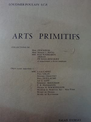 Catalogue de la vente publique d'arts primitifs organisée au Palais d'Orsay le 8 Juin 1978 petit in-4,relié,326 références d'art précolombien,océanien,africain. Les objets provenaient des collections de Mmes Chiro