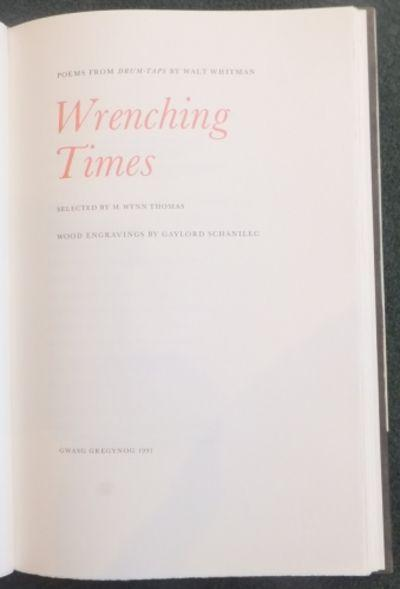 Wrenching Times. Poems from Drum-Taps by WHITMAN Walt (gregynog ...