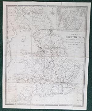 A New Map of Great Britain; Particularly Shewing the Inland Navigation, by the Canals, and Princi...