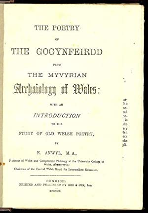The Poetry of the Gogynfeirdd from the: ANWYL E
