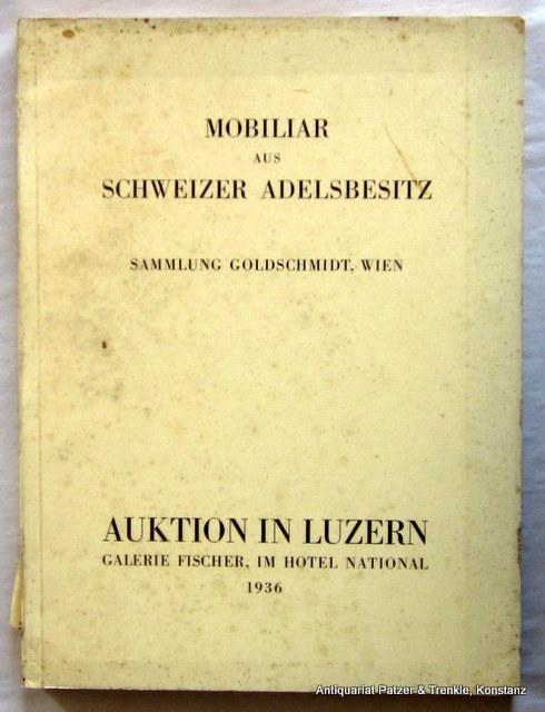 Miniaturensammlung Goldschmidt, Wien. Italienische, Französische Und  Schweizerische Möbel.
