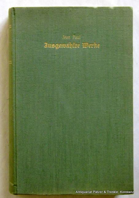 Ausgewählte Werke. Eingeleitet von Hermann Hesse. Zürich,: Hesse. -- Jean