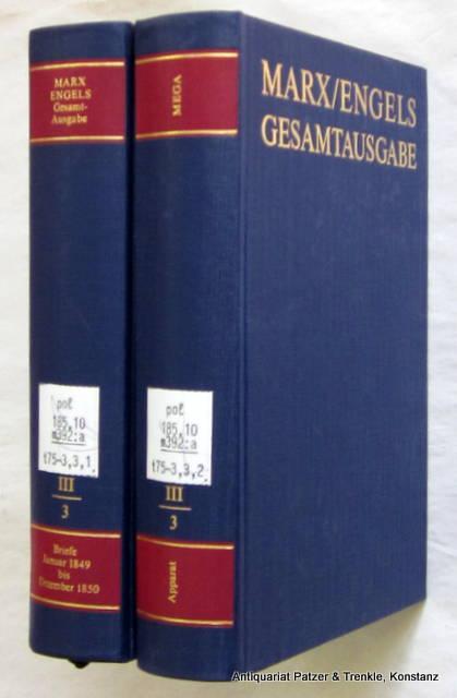 Gesamtausgabe (MEGA). 3. Abteilung: Briefwechsel. Band 3: Marx, Karl u.