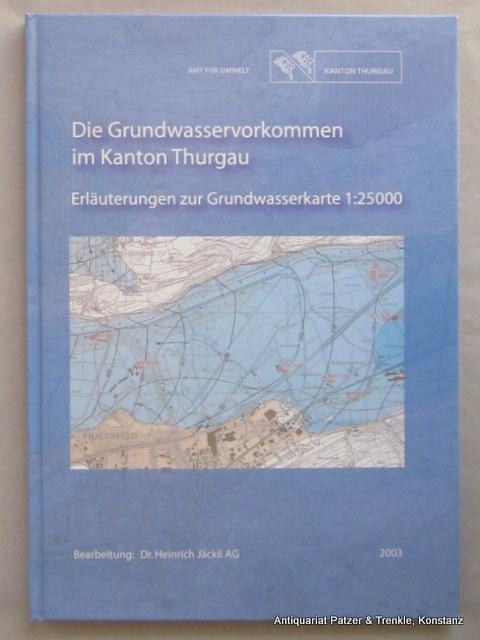 Erläuterungen zur Grundwasserkarte 1:25000. Bearbeitet von Heinrich: Die Grundwasservorkommen im