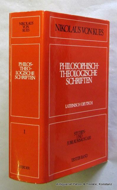 philosophisch theologische schriften von nikolaus von zvab. Black Bedroom Furniture Sets. Home Design Ideas