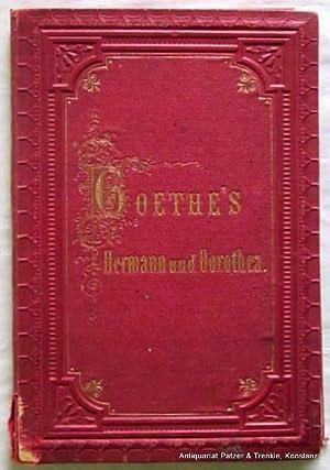 in 10 Photographien nach den Original-Cartons von: Goethe's Hermann und