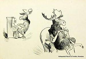 Honk der Elch. Berlin, Gebr. Weiss, (1949). 4to. Mit zahlr. (12 ganzs. u. farb.) Illustrationen von...