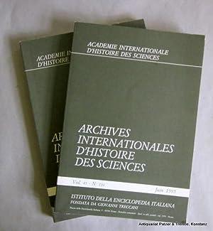 Vol. 45/1995, Nr. 134 u. 135 in: Archives Internationales d'Histoire