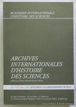 Vol. 47/1997. 3 Bände. Roma, Istituto della: Archives Internationales d'Histoire