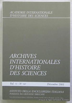 Vol. 51/2001. 2 Bände. Roma, Istituto della: Archives Internationales d'Histoire