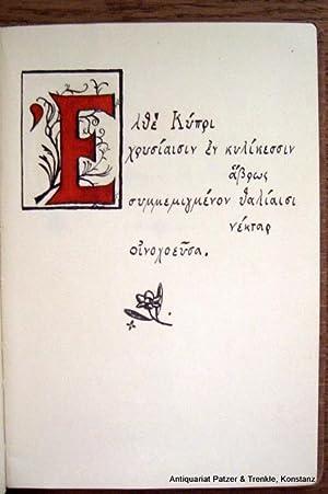 Poesie-)Album aus den 1930er Jahren (?) mit: Griechische Liebeslyrik.