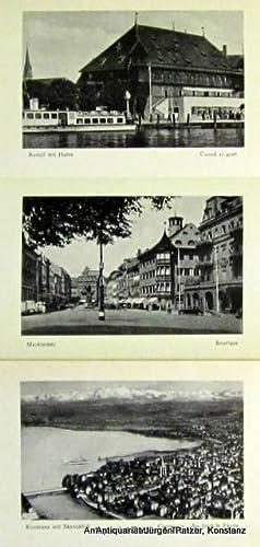 Umschlagtitel). Leporello-Album. Mehrfach gefalt. Leporello mit 9: Konstanz am Bodensee