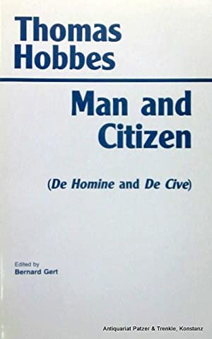 Man and Citizen (De Homine and De: Hobbes, Thomas.