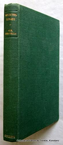 Selected Essays. Selected with an Introduction by: Chesterton, G. K.