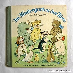 Im Kindergarten der Tiere. Wiesbaden, Jos. Scholz-Mainz, (1950). Kl.-4to. Durchgehend mit ...
