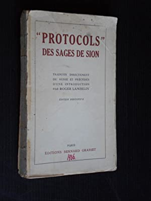 Protocols des Sages de Sion: Lambelin, Roger, Introduction