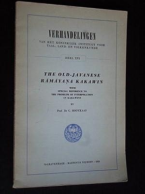 The old-Javanese Ramayana Kakawin, Verhandelingen van het: Hooykaas, Prof Dr