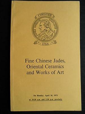 Fine Chinese Jades, Oriental Ceramics and Works
