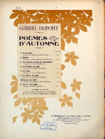 Poèmes Dautomne 7 Douceur Du Soir Poème