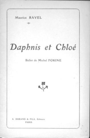 [Inhaltsangabe/Regiebuch] Daphnis et Chloé. Ballet en 3 tableaux de Michel Fokine Ravel, Maurice: 12 S. Kl. 8°. Selten. Sprache: Französisch Gewicht in Gramm: 250