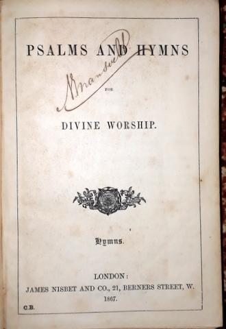 Psalms and hymns for divine worship. Hymns: Psalmen: