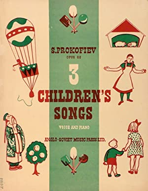 Three children`s songs. Op. 68. Voice and piano. English settings by W.H. Easterbrook