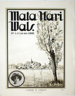 Mata Hari Wals [voor piano]: Linde, J.A. van