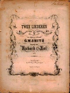 Twee liederen. No. 1. Nacht. Friesch lied. p. 6 No. 1