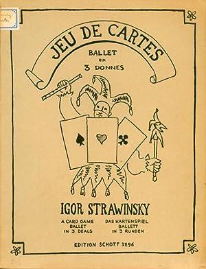 Jeu de cartes. Ballet en trois donnes. Couverture et croquis par Théodore Strawinsky: ...