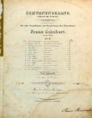 D 957:12] Schwanengesang. (Chant du cygne.). Deutsch: Schubert, Franz