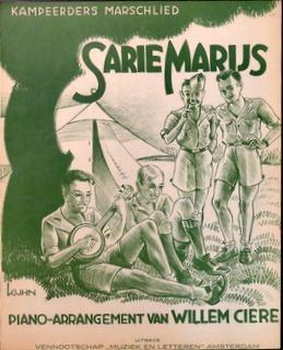 Sarie Marijs. Kampeerders marschlied [voor piano]: Ciere, Wilem (arr.)