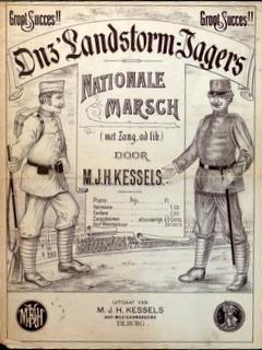 Onz'Landstorm-Jagers. Nationale marsch (met zang ad lib).: Kessels, M.J.H.