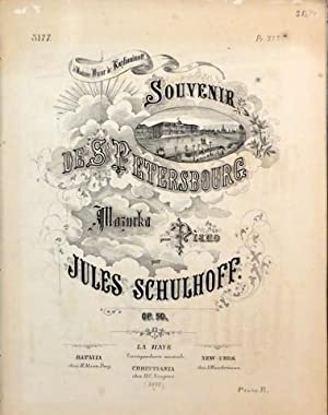 Souvenir de St. Petersbourg. Mazurka pour piano.: Schulhoff, Jules: