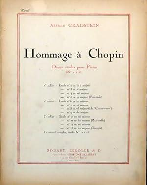 Hommage à Chopin. Douze études pour piano: Gradstein, Alfred: