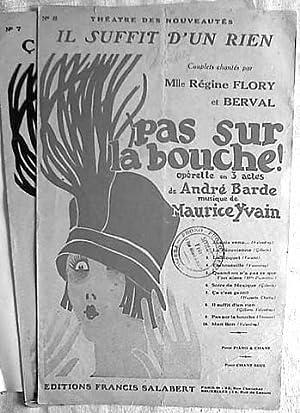 """2 chansons l`operette """"Pas sur la bouche!"""": Yvain, Maurice:"""