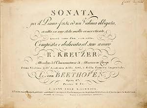 Op. 47] Sonata per il pianoforte ed: Beethoven, Ludwig van: