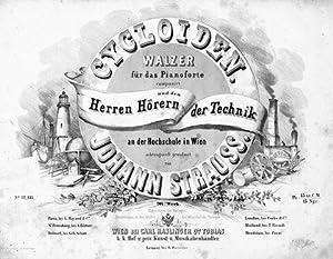 Op. 207] Cycloiden. Walzer für das Pianoforte. 207s. Werk: Strauss, Johann (Sohn):