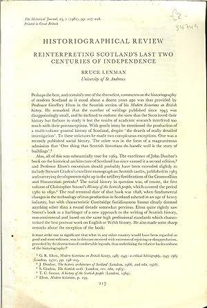 REINTERPRETING SCOTLAND'S LAST TWO CENTURIES OF INDEPENDENCE: Lenman, B.