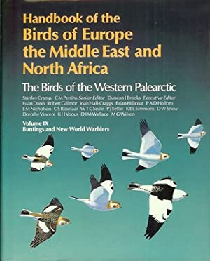 HANDBOOK OF THE BIRDS OF EUROPE AND: Cramp (Stanley) and