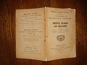 Bibliotheca Orientalis XXXVII On Oriental Religion and: Knight-Smith, H. B.
