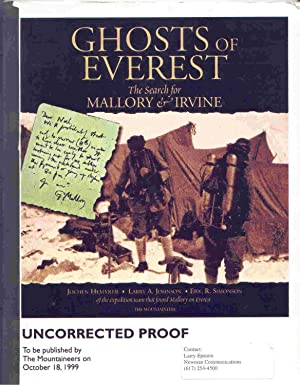 lost on everest the search for mallory amp irvine