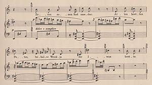 Drie liederen. ('De Troubadour' door C.J. Kelk, 'Nu licht vergeten de Avond rust.' ...