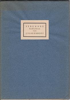 Serenade. Gedichten. (1/10 deluxe copies on Japanese paper).: SLAUERHOFF, J.