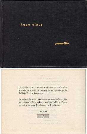 Over het werk van Corneille gevolgd door een gedicht. (Met 5 originele linoleumsneden van de ...