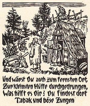 Einige Reimsprüche mit Bildern in Holz geschnitten von R. Riege. (Inscribed by Schlaf).: SCHLAF, ...