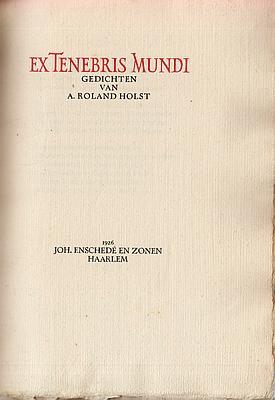 Ex Tenebris Mundi