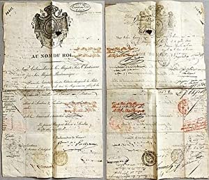 Passport for Valérie Gromez, signed by Prince Jules de Polignac as Ambassador of France in Britain.