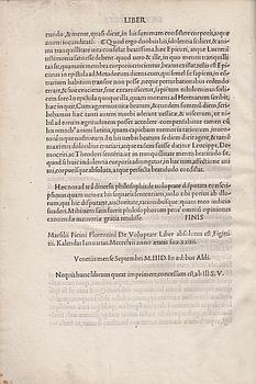 De mysteriis Aegyptiorum, Chaldaeorum, Assyriorum. (And other: INCUNABLE). IAMBLICHUS