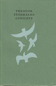 Zehn Gedichte. Ausgewählt von Alfred Karl Kossmann und Reinold Kuipers. (Met een zeefdruk door V.H....